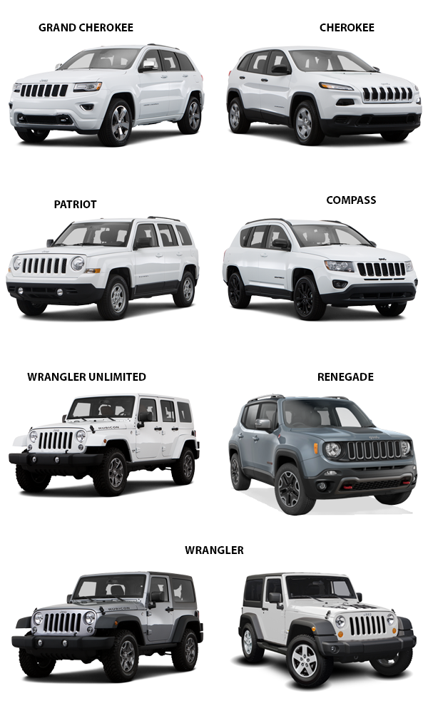 Cash for Jeeps - 2017 lineup