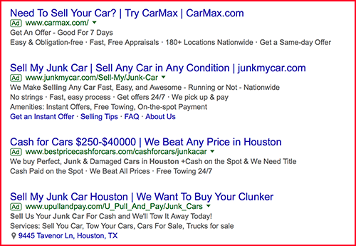 who buys junk cars
